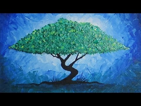 Acrylic Abstract Tree Painting - YouTube