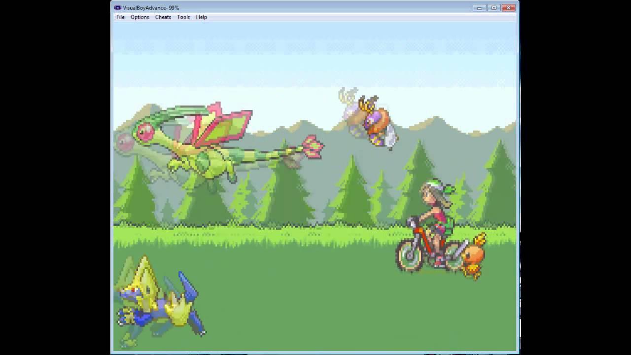 Emerald remake! Pokémon emerald sky pokemon fan game gameplay.