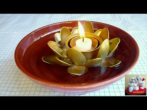 DIY# 37 Floating Lotus Candle Holder from Recycled Materials