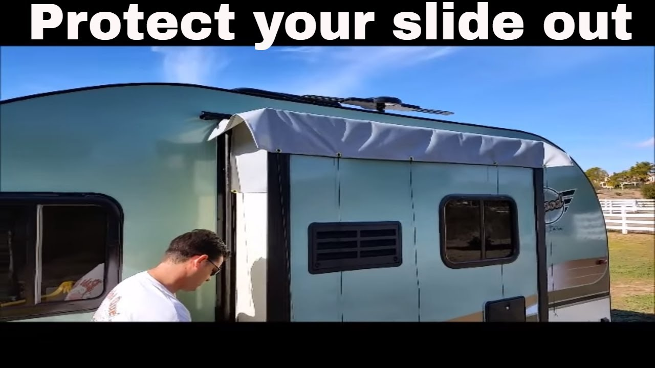 Rv Slide Covers : R pod trailer slide out cover installation video youtube