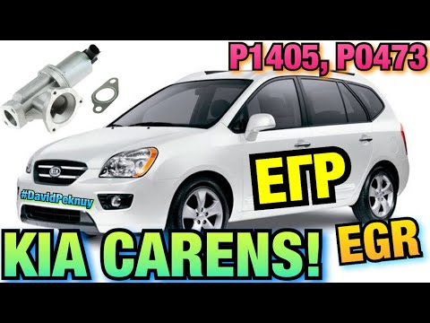 Киа Каренс ЕГР. P1405. P0473. Kia Carens 2.0 CRDI EGR Valve Cleaning! Ошибка по ЕГР!
