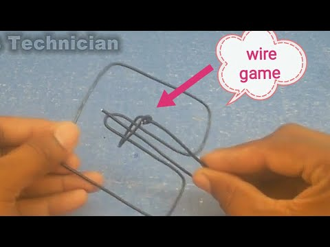 How to Make a Wire Puzzle Game  Metal Wire IQ Magic  Puzzle Brain Teaser