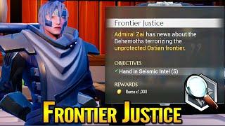 Dauntless Frontier Justice Seismic Intel Quest
