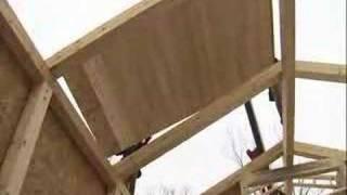 LEED Home SIP panel roof 1