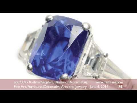 Kashmir Sapphire Diamond Platinum Ring