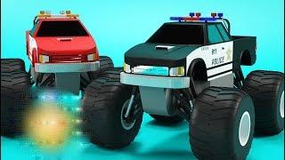 Polis Araba Yarışları - Fun Racing Police Monster Truck Game  - Bıcır Fun Game Channel
