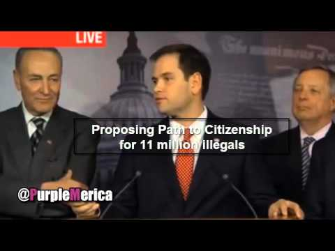 Marco Rubio Flip Flops on Immigration Reform