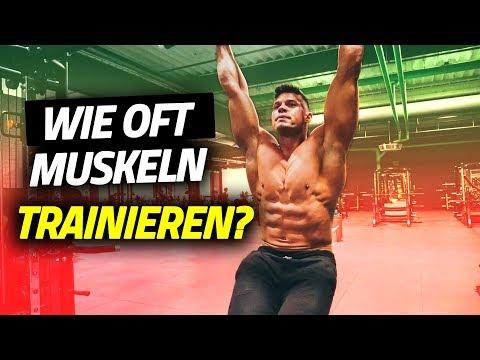 Wie oft trainieren? Wie oft trainieren in der Woche? Muskelaufbau!