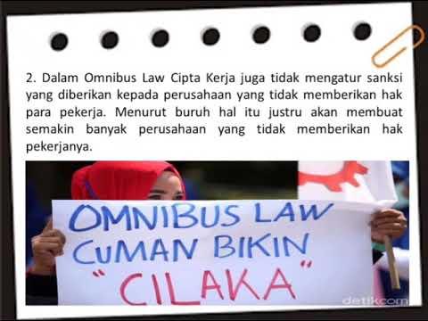 TENAGA KERJA dan RUU CIPTA KERJA DI INDONESIA - YouTube