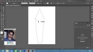 Adobe illustrator tutorials (For Beginner 1) How to make Pencil