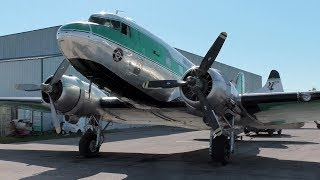 Buffalo Airways DC-3C [C-GWZS] Startup and Takeoff from Red Deer Regional ᴴᴰ