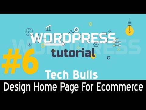 [Hindi] How to create E-commerce Homepage Design in WordPress || landing page layout