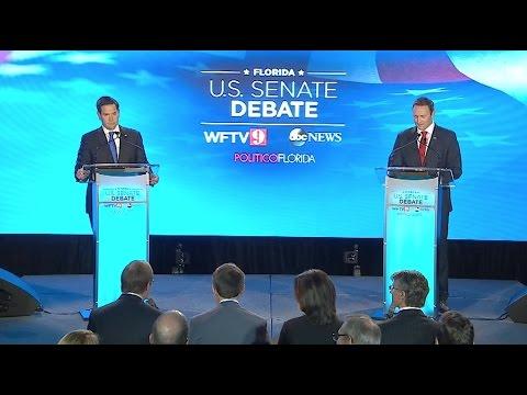 Rubio vs Murphy U S  Senate Debate - Florida 2016