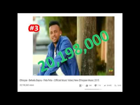 Top10 Most Viewed Ethiopian Musics Youtube