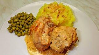 Мясо Кролика в Cметаном Cоусе с Хреном. Мясо кролика Рецепт.