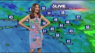 KTLA 5 Liberté Chan blends into 'green screen'