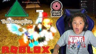 Roblox CAMPING! (Das Lagerfeuer) Wie die Pals Denis, die Donut Squad Kid Gamer MinetheJ kinderfreundlich