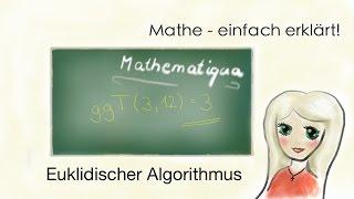 Euklidischer Algorithmus mit Zahlen, größter gemeinsamer Teiler
