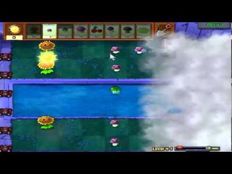 Plants vs zombies (Trồng cây bắn zombie) - Cấp độ 4-1 (Game Việt Hóa)