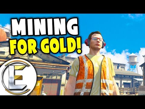 Mining For Gold! - Real Life GTA RP (Mining Rocks From A Quarry, Washing Then Refine)