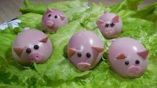 ✅Закуска на новый год 2019/Фаршированные яйца «свинки»/новогодний стол