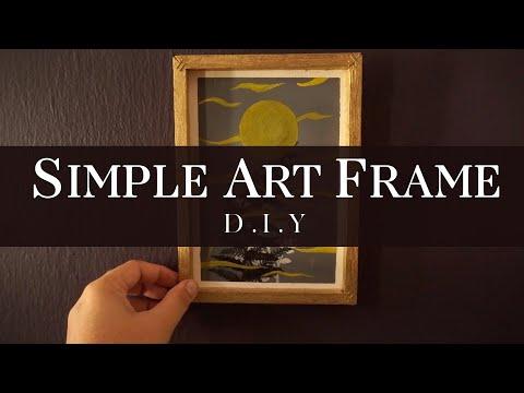 SImple & Lazy DIY: Art Wood frame