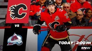 NHL 18 PS4. REGULAR SEASON 2017-2018: Colorado AVALANCHE VS Calgary FLAMES. 02.24.2018. (NBCSN) !