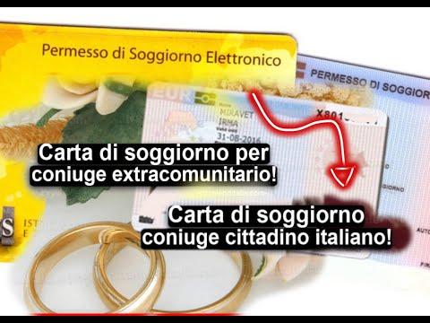 la Carta di soggiorno coniuge di cittadino italiano ...