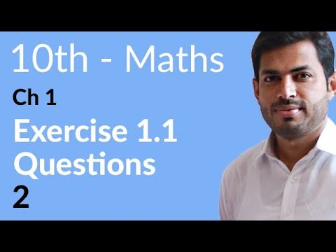 10th Class Maths solution, ch 1, lec 2 - Exercise 1.1 Question no 2 - Maths 10th Class