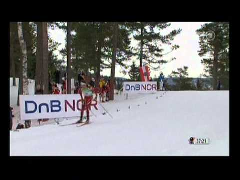 Biathlon Massenstart der Männer in Oslo 2011