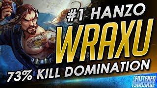 """World's #1 Hanzo """"Wraxu"""" INSANE 73% Kill Carry"""