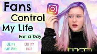 Fans Control My Life for a Day! *Hair Fail*
