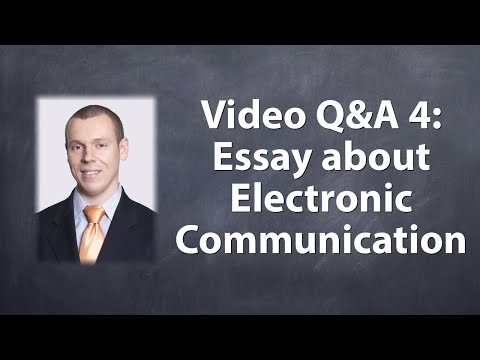 Видео Essay about electronic communication