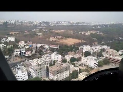 Hyderabad Helicopter joy ride - total coverage  - must watch