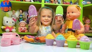 ✔ Кукла Ненуко и Ярослава открывают новый набор игрушек Десерты. Видео для детей. Doll Nenuco ✔