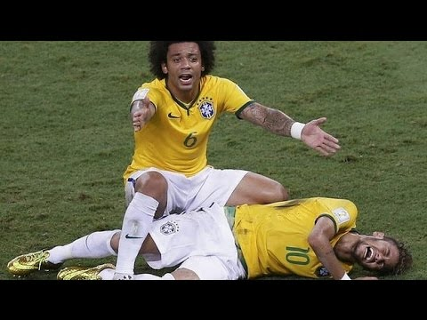 Neymar Jr # Injury at fifa world cup 2014