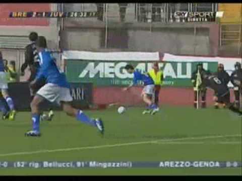 Brescia - Juventus 3 - 1 Serie B 2006/2007 tripletta di Matteo Serafini