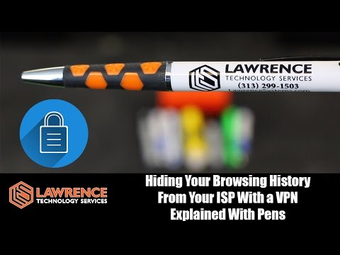 Hiding Your Browsing History From Your ISP With a VPN Explained With Pens