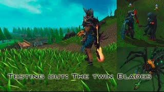 Testing out the Twin Blades! (Blades of Avaryss and Nymora)   Araxxor and Pking New tier 85 weapons