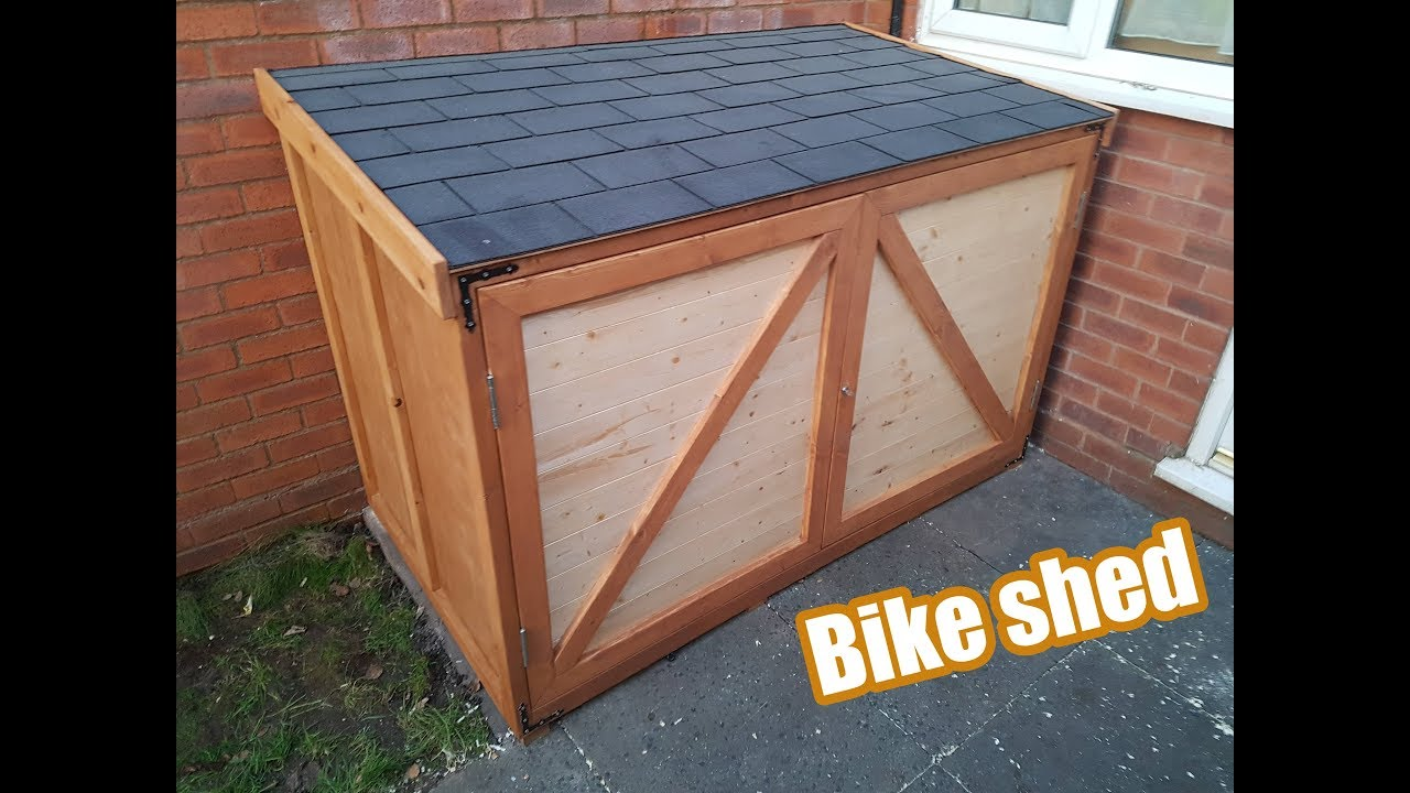 How To Make Bike Shed Diy Youtube