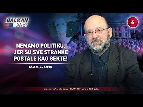 INTERVJU: Dragoslav Bokan - Nemamo politiku, jer su sve stranke postale kao sekte! (29.3.2019)