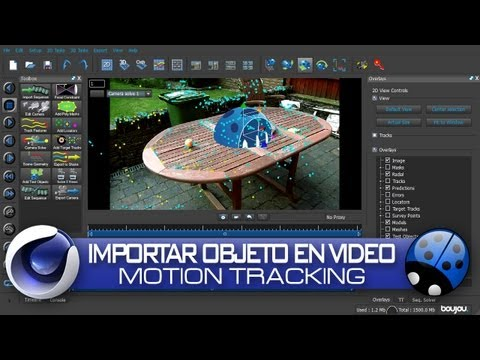 Motion Tracking 3D - Texto 3D En Video / Boujou & Cinema 4D