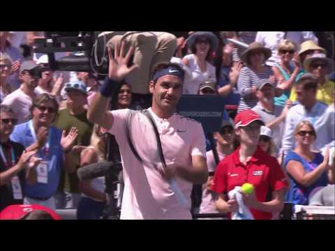 Roger Federer match point vs Peter Polansky at Rogers Cup in Montreal