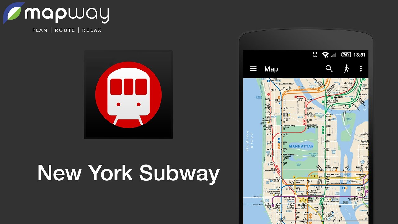Android New York Subway Map.New York Subway On Android Mapway