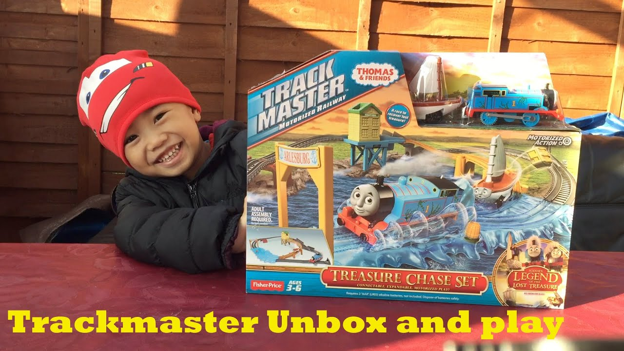 Fisher price thomas amp friends trackmaster treasure chase set new - Thomas And Friends Trackmaster Treasure Chase Lets Play Toy Trains For Kids Youtube