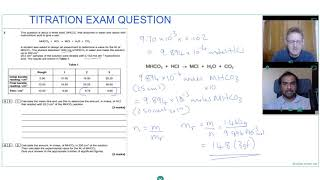 TITRATION EXAM QUESTION for A LEVEL CHEMISTRY