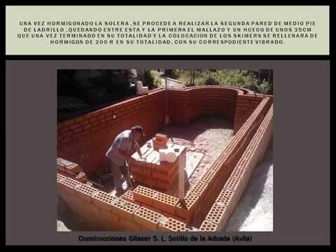 Instalando tubos de aspiraci n expulsi n de piscina pa - Construccion piscinas paso paso ...