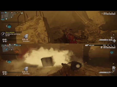 COD Ghosts Domination 2 veteran + 2 vs 12 Recruit bots