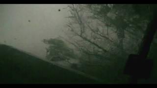 Direct hit by tornado!  Storm chase (May10, 2010) Arkansas City, KS