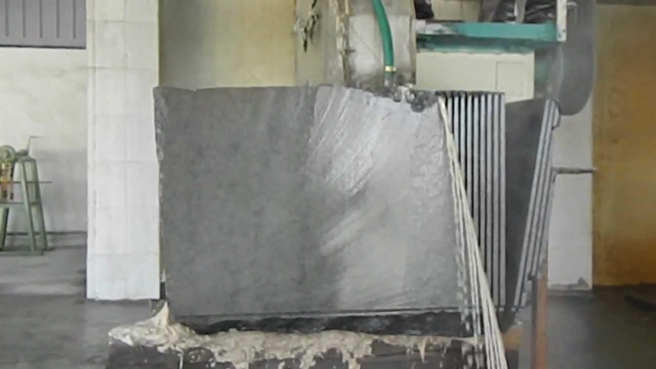 Granite Blocks Cutting Machine In Kishangarh Youtube